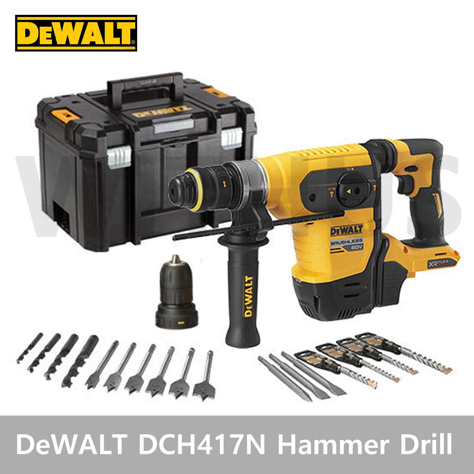 DeWALT DCH417N 60V Max Flexvolt XR Brushless SDS Plus Hammer Drill Bare Tool
