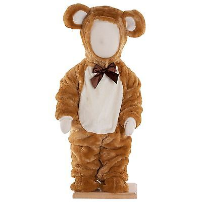 Furry Toddler Babies Teddy Bear Costume Girls Boys Brown Luxury Plush Ted Outfit](Toddler Teddy Bear Costume)