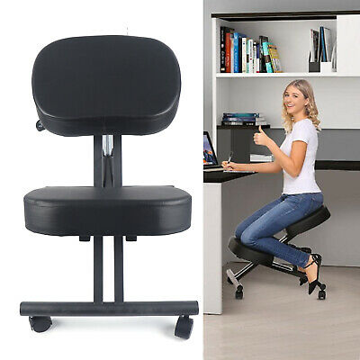 Kneeling Chair Posture Stool Ergonomic Design Adjustable Computer Work Black