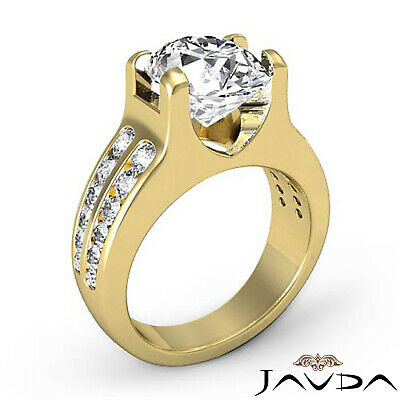 2 Row Channel Prong Setting Oval Diamond Engagement Ring GIA I Color SI1 1.62Ct 7
