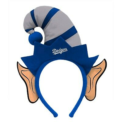 Los Angeles Dodgers Elf Ears Headband Holiday Hat NEW! Christmas Santa Helper - Christmas Elf Ears