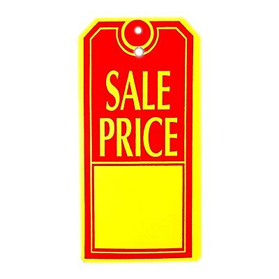 1000 Large Sale Price Tags Red Yellow Heavy Duty Paper Stock 4 34 X 2 38