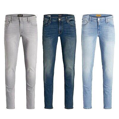 Jack & Jones Liam Mens Slim Skinny Fit Blue Denim Pants Casual Trousers Latest