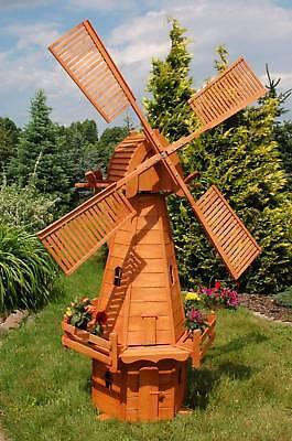 Extrem Große XXXL Windmühle aus Holz, holländische Art 2,68 m, kugelgelagert, H4