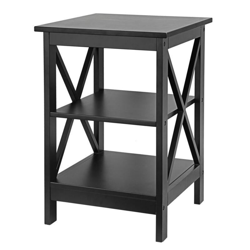 24 Inch End Table Sofa Side End Storage Shelf X-Design LivingRoom Furniture