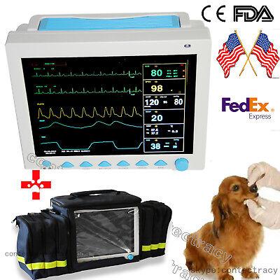 Fda Vet Veterinary Patient Monitor Ecg Spo2 Monitor Nibp Resp Temp Pranimalbag