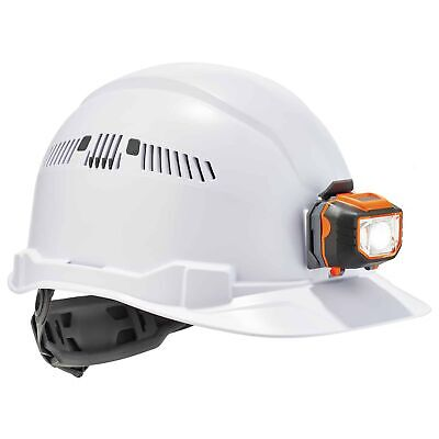 Ergodyne Skullerz Vented Cap Style Hard Hat With Led Light - White