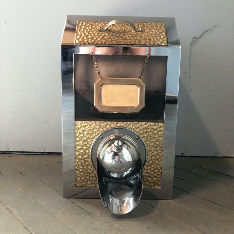 Vintage 40s | Hammered Steel Coffee Bean Dispenser