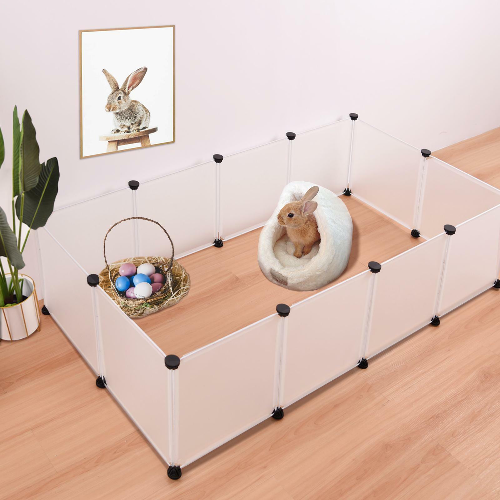 Portable PP Plastic Dog Pet Playpen Crate Animal Fence Exerc