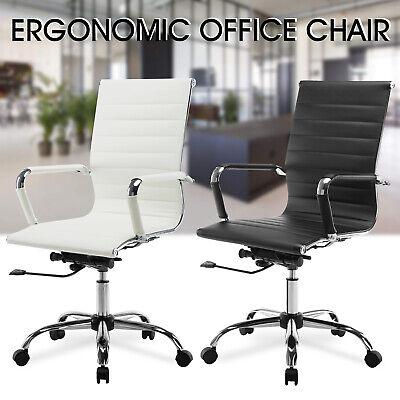 Adjustable High Back Swivel Office Chair Leather Ergonomic Computer Desk Seat (Back Swivel Chair)