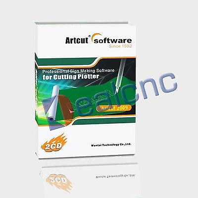 9 Languages Artcut2009 Software For Vinyl Cutting Plotter With Graphec Disc