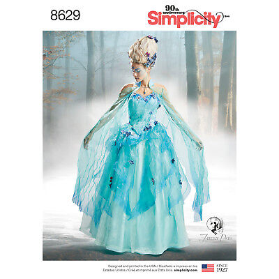 SIMPLICITY 8629 Misses Water Fairy Queen Costume Sewing Pattern (Firefly Path)