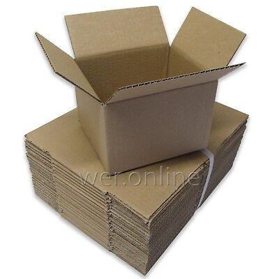500 x Postal Packaging Small Cardboard Carton 6 x 5 x 4
