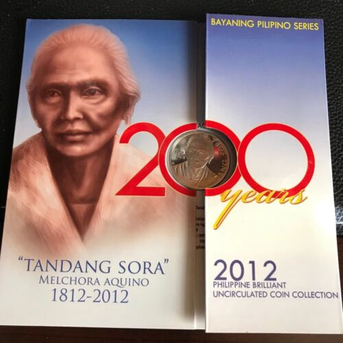 PHILIPPINES 2012 COIN SET, TANDANG SORA 200 YEARS COMMEM, 1 CENT to 10 PISO