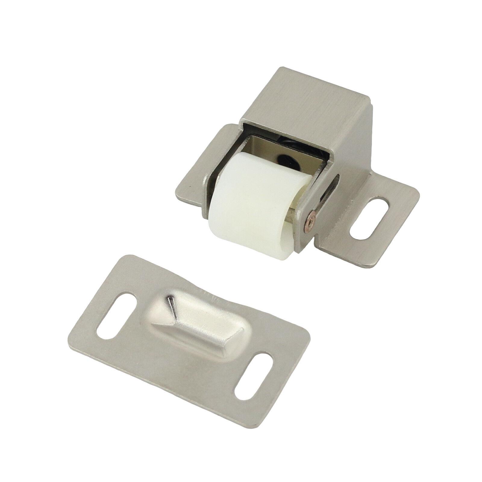 Roller Catch Cabinet Door Latch Door Hardware and Packs, Satin Nickel Building & Hardware