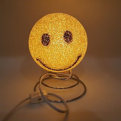 Smiley Happy Face Light Lamp Yellow Smile Electric Popcorn Desk Jelly -