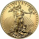 2015 Gold American Eagle (GAE) 1/2oz (Half Ounce) $25 BU