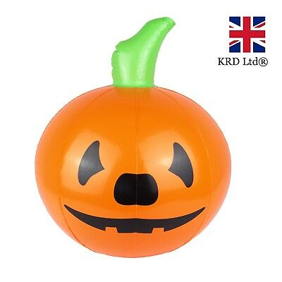 HALLOWEEN INFLATABLE PUMPKIN Blow Up Toy Spooky Scary Party Decoration 35cm UK ()