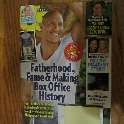 Us Weekly Magazine August 19th 2019 The Rock Dwayne Johnson
