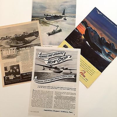 VINTAGE COLLECTION OF FLYING BOAT ADVERTS