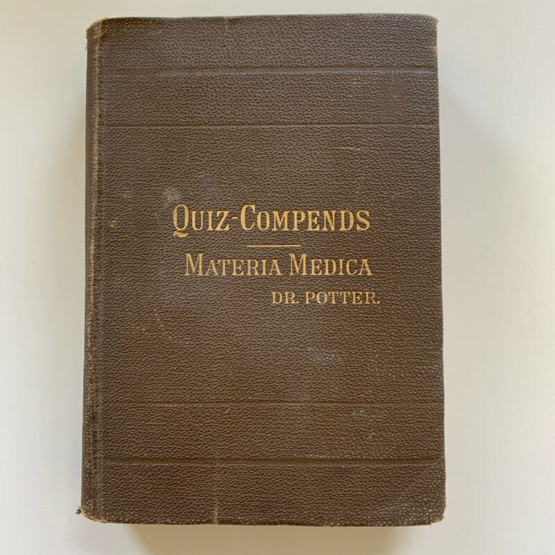 Dr Potter QUIZ-COMPENDS Anatomy 1901 Antique Medical Book