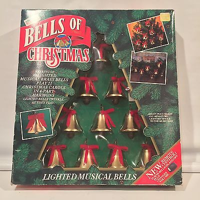 Mr. Christmas Bells Of Christmas 1992 Lighted W/Remote 10 Bells 21 Carols NEW!