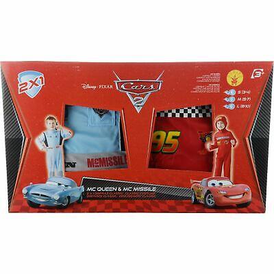 Disney Cars Lightning Mcqueen + Finn Mcmissile Costume Set Age 7-8