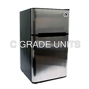 Igloo 3.2 cu ft 2 Stainless Doors Mini Fridge - FR834SS