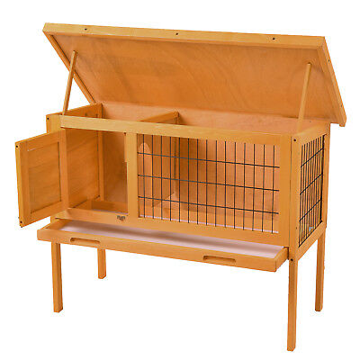 "36"" Wooden Rabbit Bunny Hutch Chicken Coop Hen House Poultry Cage Animal House"