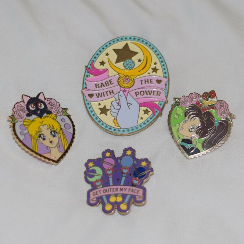 Sailor Moon Enamel Pins Lot of 4 Sailor Jupiter Usagi Makoto
