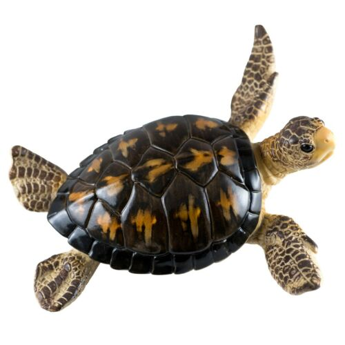 "Brown Sea Turtle Figurine 6.5"" Long Resin New"