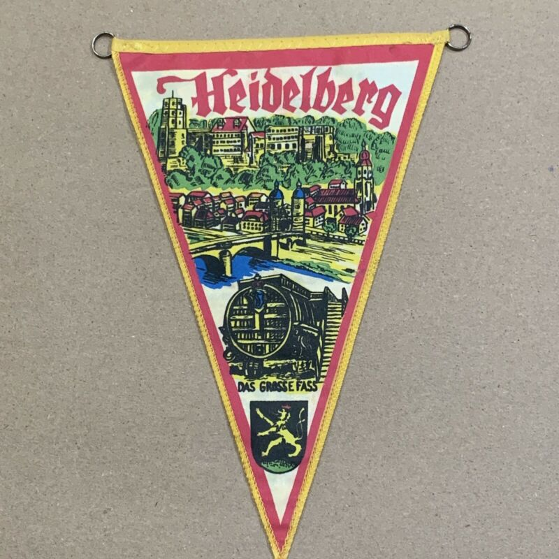 "Vintage pennant  Heidelberg  9"" Double sided"