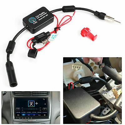 12V Auto Booster Inline Antenne Radio Signal FM&AM Antenne Verstärker Car Stereo Auto Stereo Antenne