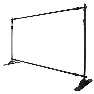 10x8 Step And Repeat Adjustable Banner Stand Telescopic Trade Show Backdrop