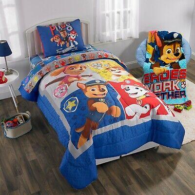 Paw Patrol Nick Jr. Twin Comforter, Sheet Set & BONUS Sham (5 Piece Bedding)