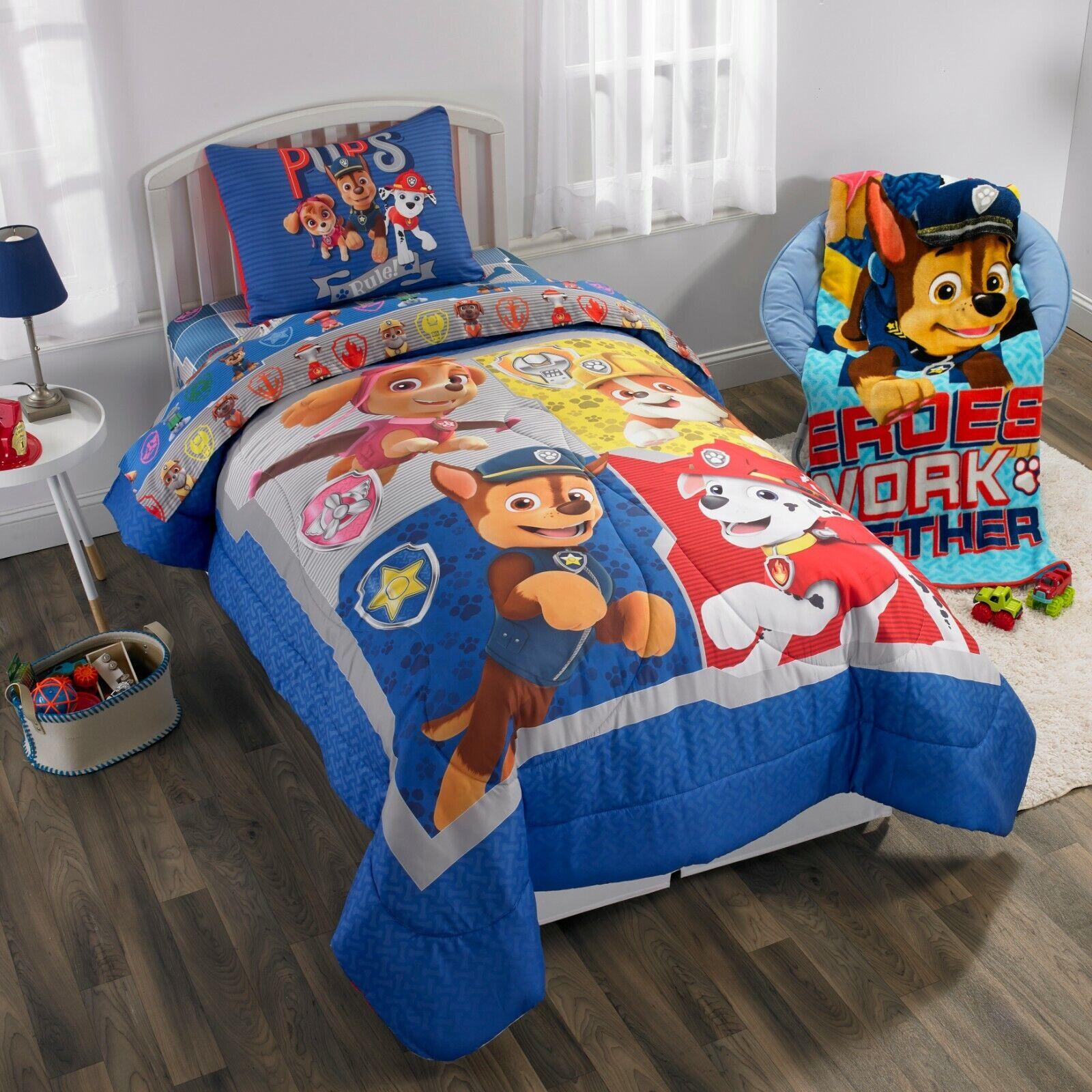Paw Patrol Nick Jr. Full Comforter, Sheet Set & BONUS Sham