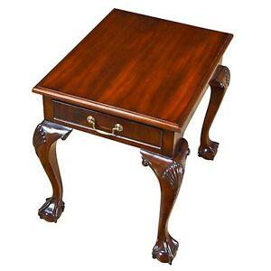 NSI053, Niagara Furniture, Ball and Claw Mahogany Lamp Table