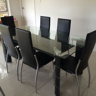 3 Matching Glass Tables including dining and chairs Eight Mile Plains Brisbane South West Preview