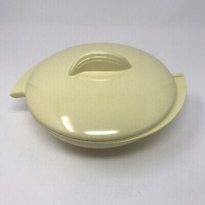Mid Century Boontonware Boonton Melamine Melmac Yellow Divided Dish w/ Lid
