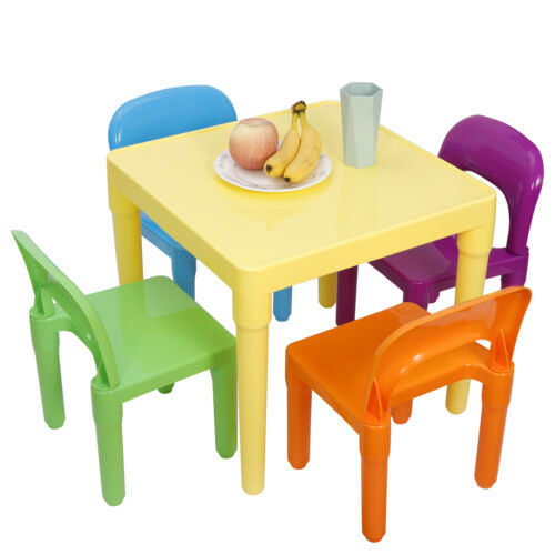 Kids Table and 4 Chairs Toddler Child Party Toys Fun Activity Furniture Play Set Furniture