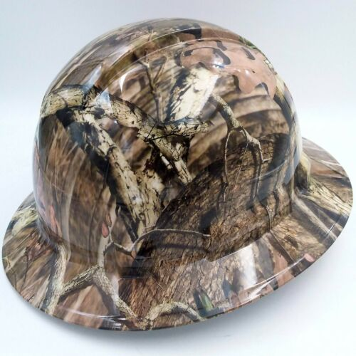 Hard Hat FULL BRIM custom hydro dipped , OSHA approved BREAK UP INFINITY CAMO 2