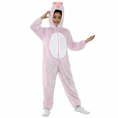 Kinder Jungen Mädchen Hof Tier Babe Schwein Ferkel Overall Maskenkostüm