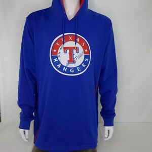 Texas Rangers Majestic Mens 2XL Fleece Hoodie MLB Hooded Sweatshirt NWT