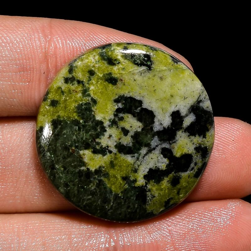 100% Natural Serpentine Round Shape Cabochon Loose Gemstone 43.5 Ct. 29X29X5 mm