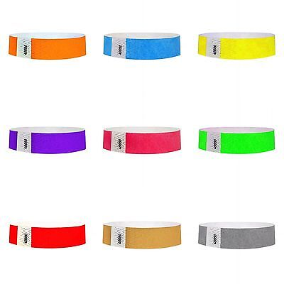 "TYVEK WRISTBANDS FOR EVENTS, 3/4"" PAPER BANDS 100,500,1000](Paper Wristbands For Events)"