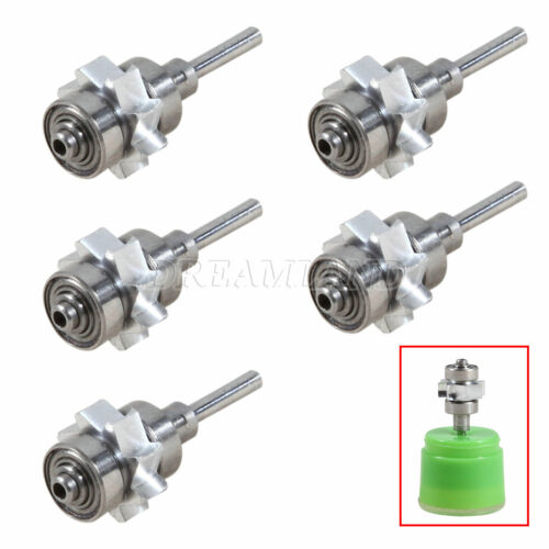 5X Dental 45 Degree Cartridge Turbine Rotor Replace for NSK High Speed Handpiece