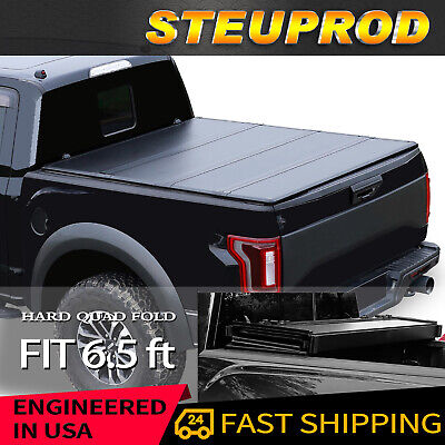 Hard Quad-Fold 6.5 FT Tonneau Cover For 2007-2015 Tundra Truck Bed
