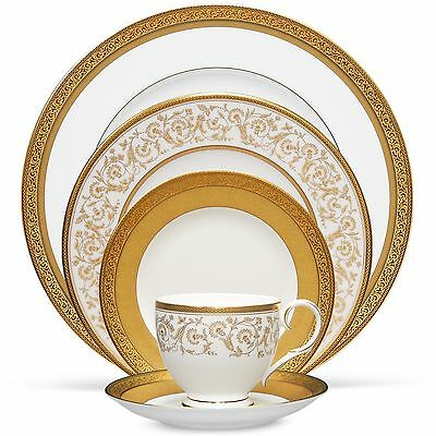 Noritake Summit Gold 60Pc China Set, Service for 12