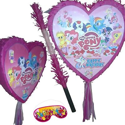 My Little Pony Birthday Pinata set Girls Kids Smash Party Fun Unicorn Poney Pink](My Little Pony Piñata)