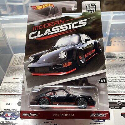 Hot Wheels Modern Classics Car Culture Real Riders Black Porsche 964